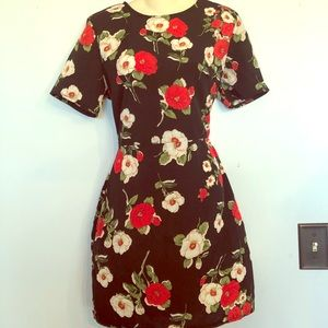 Black base flowered dress
